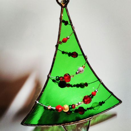 spruce sun new garland catcher suncatcher bauble evergreen seasonal epiphany kings christmas czech green beads glass decor red gold silver fir three men ornament stained wise pine beaded year tree decoration home