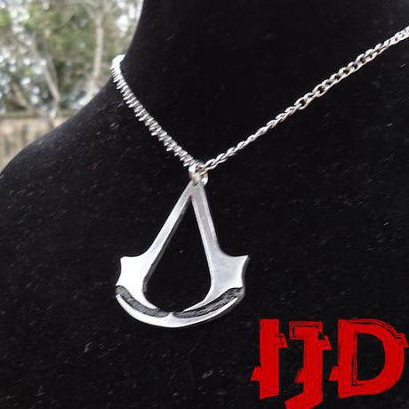 assassin pendant creed silver women for men necklace