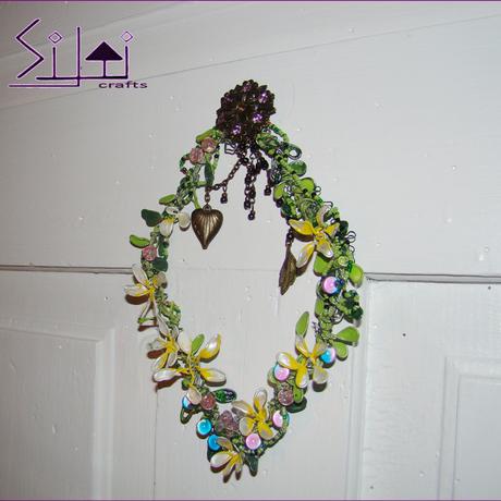 vintage wall magic wallart spring boho rhombus wedding romantic bohemian decor flower door metal floral