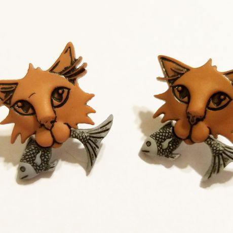 earrings jewelry kriszcreations giftsforher cats