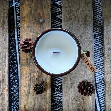 holiday candle wood christmas winter wick scents woodsy gift soy candles