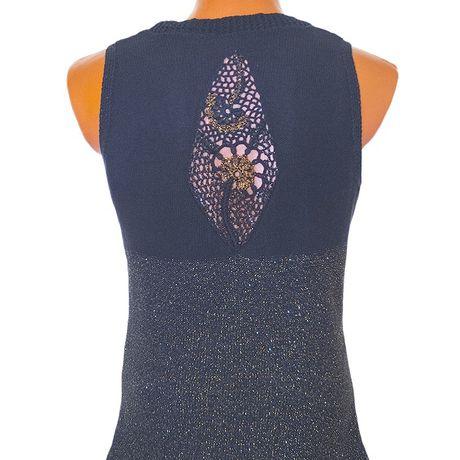 knitted summer tunic cotton monochrome black customdesign