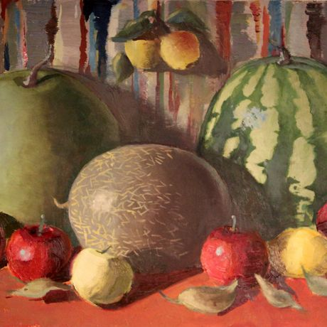 painting picture art interior fruits