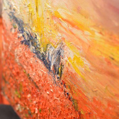 oil painting landscape canvas art horse