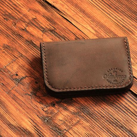 wallet handmade business card slim leather cash credit holder