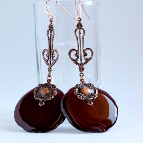 rosepetals eardrops handmade earring