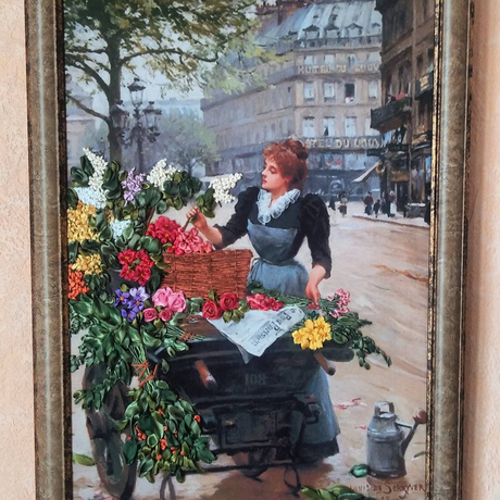 flowers painting picture art interior silk