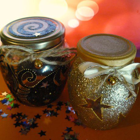 glitter jars decor jar candlestick