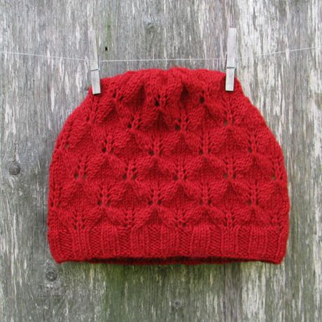 knitted wool hat red enguknits