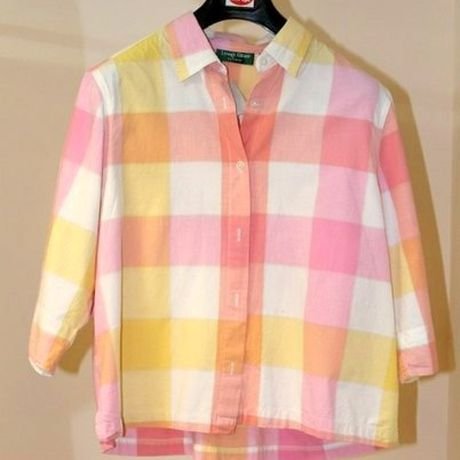 retro shirt vintage plaided pink clothes