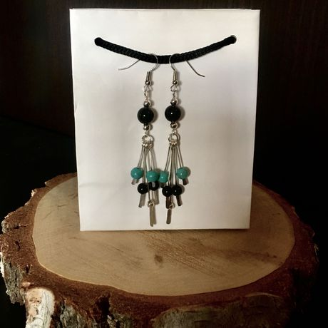 dangly gypsy earrings valentines handmade silver for wrapped boho her beaded statement gifts trends gift sterling bohemian wire jewellery chandelier