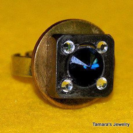 wear and ring modern ooak contemporary industrial swarovski crystals beautifull dare design stainless steel