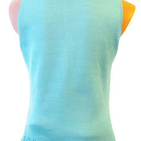 knitted cotton turquoise tunic