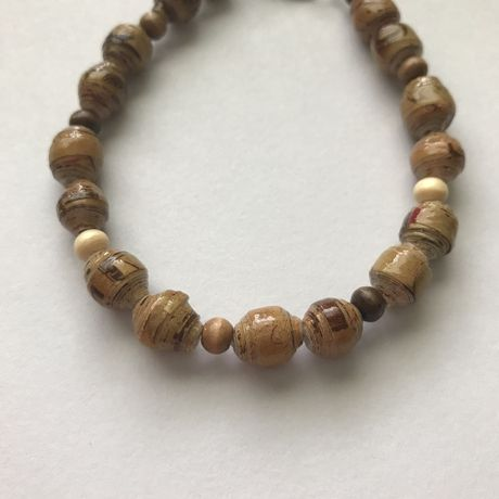 handmade brown recycled for any free occasion shipping woman bracelet gift unique man anyone material paperbead