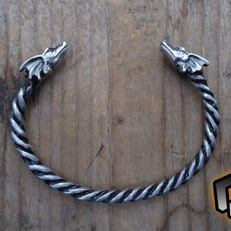 silver viking dragons bracelets bracelet ornament dragon jewelry celtic