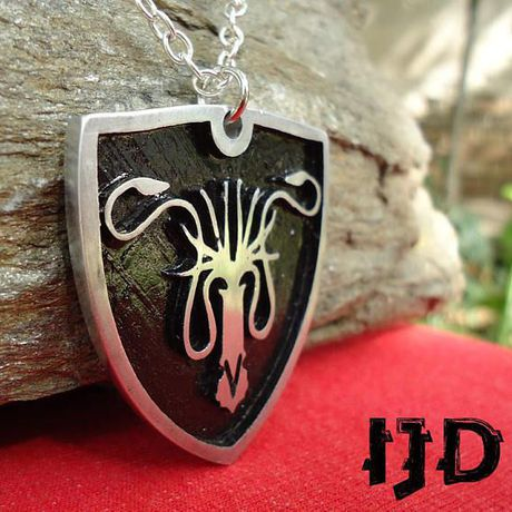 pendant thrones octopus epic sigil got grayjoy mediveal accesories necklace game