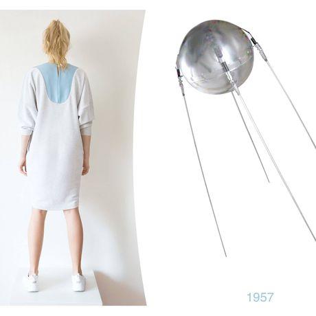 cotton handmade blue grey dress clothes