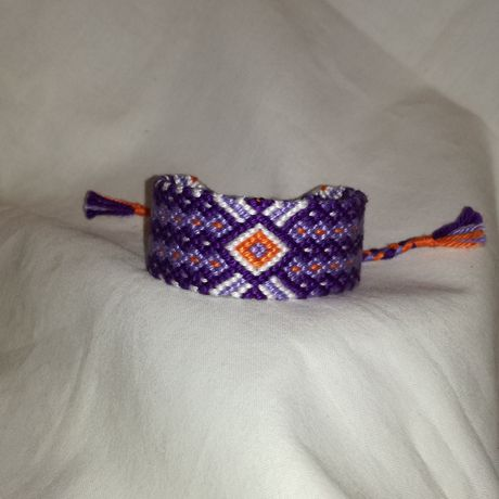 knitted wrist shades woman for boho bracelet gift band art purple string braided