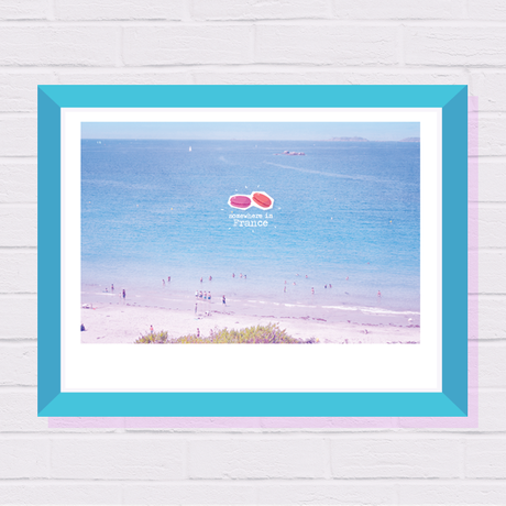 french wall print poster for gift photography her office home decor art sea travel beach