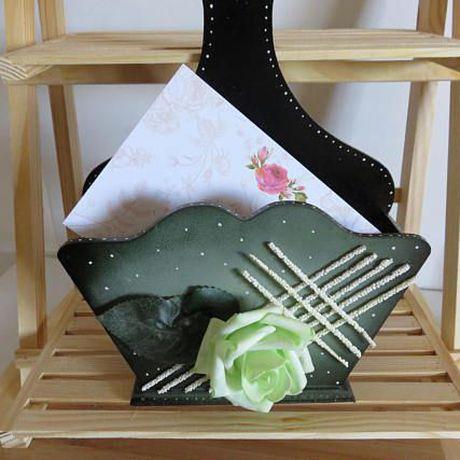 letter gift office home holder green mail