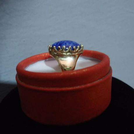 golden gold gothic ring woman victorian lapis with jewelry stone
