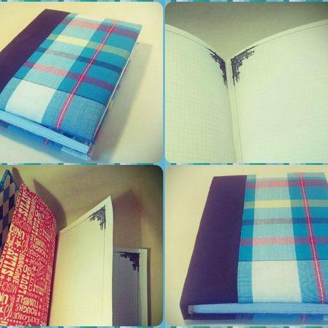 diary notebook handmade checkered