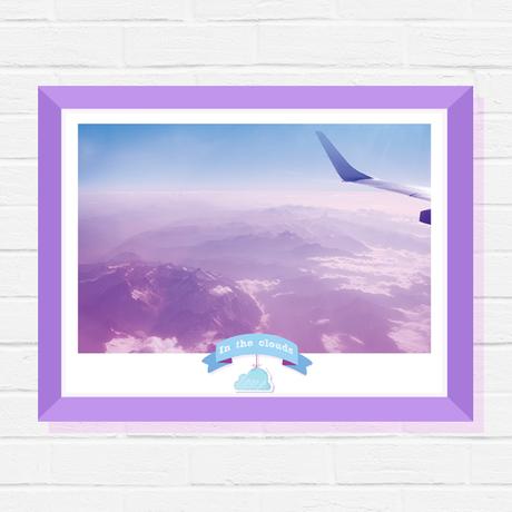 travel plane sky print poster photography blue art mountains cloud