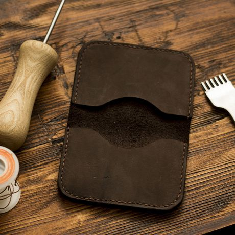 wallet handmade case for card leather men credit holder