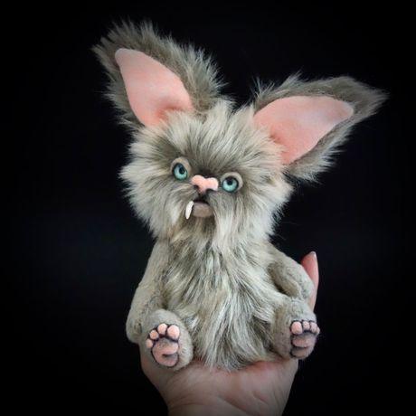handmade monster collectors ooak item bear gift creature art teddy teddybear