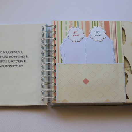 maternity mom pregnancy diary album boy baby journal personalized expecting gift