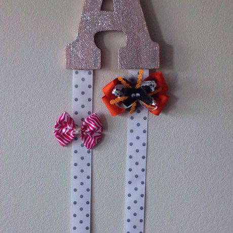 letter personalized gift girls holder for bow