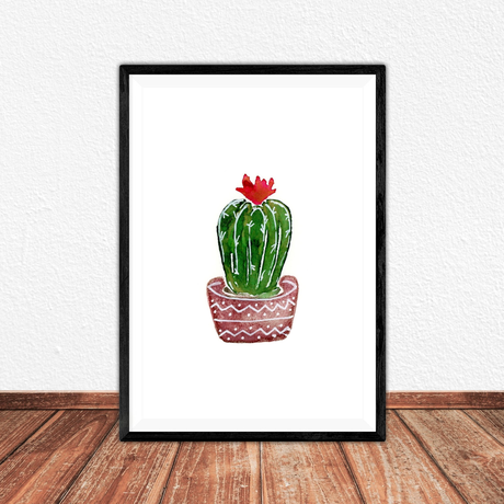 artprint cactus print illustration watercolor gift art prints giftidea fineartprint