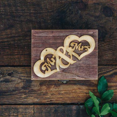 wooden wood present wedding gift box anniversary photos
