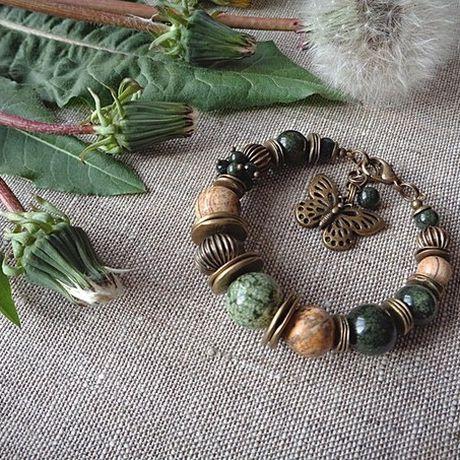 bracelet jasper serpentine jewel