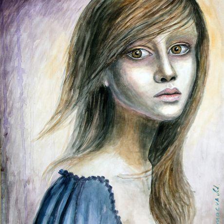 portrait picture woman acrylicpaints girl