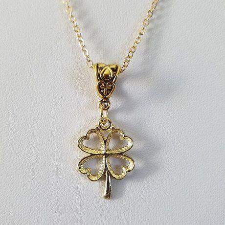 silver lucky clover four luck patricks good leaf shamrock necklace irish pendant day charm