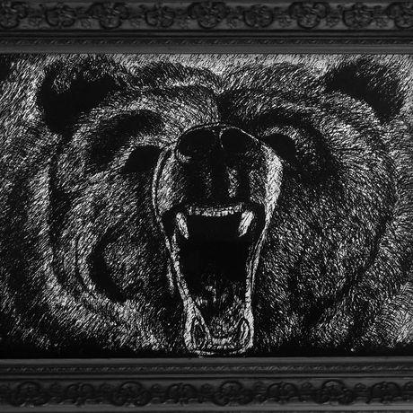 animal wild wildlife halloween cave hunting hunter roar roaring angry hunt christmas present bear gift man home decor