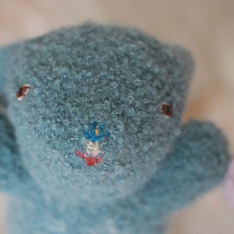 animal toy baby collectible beads gift fiber rabbit fluffy bunny art twin pink plush stuffed