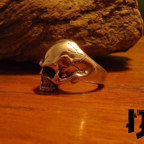 pagan gothic dark viking wiccan vampire ring black rings jewelry metal skull