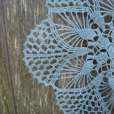 round gift doily doilies enguknits crochet aquamarine