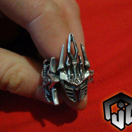 world fantasy silver ring merchandise sword jewelry king frostmourne leech wow warcraft