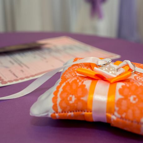 wedding holiday gift rings set orange