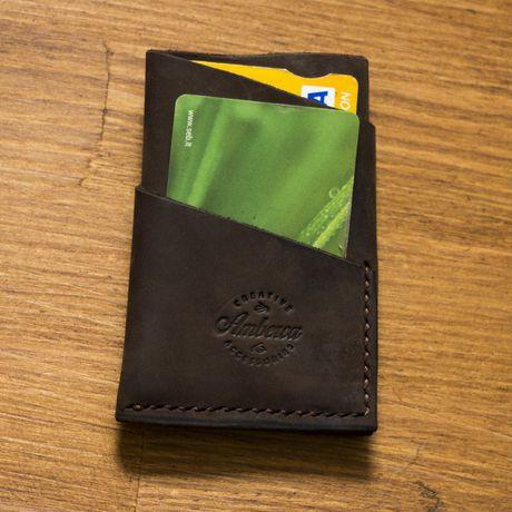 leather wallet credit holder card