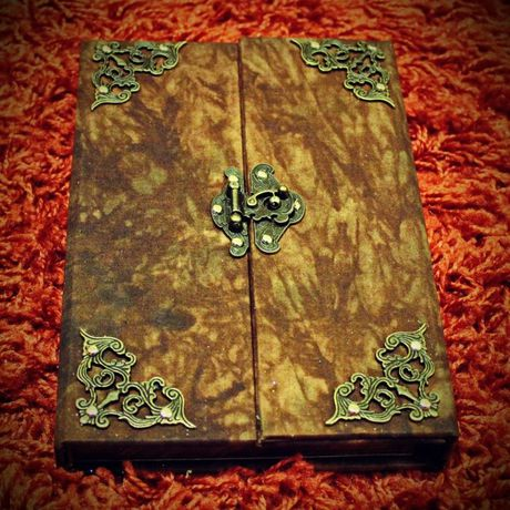 fabric vintage notebook