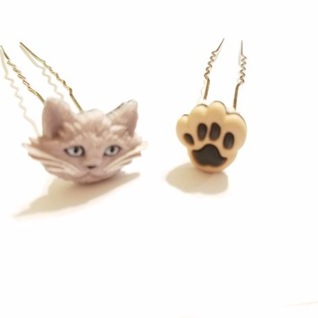 hairjewelry hairpins kriszcreations graycats gifts cats