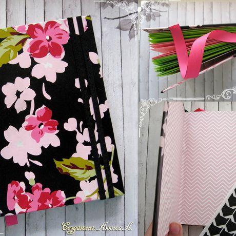 paper notebook pink black sakura