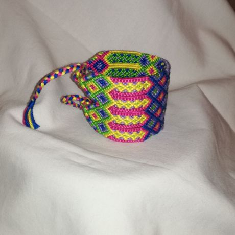 knitted wrist colourful handwoven boho bracelet style gift band unique friendship string wayuu braided