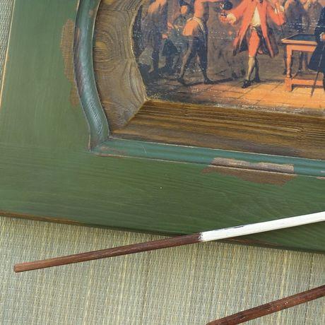 panel men painting billiards women gifts old