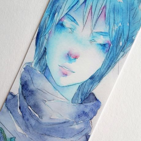 flowers reading painting anime manga cute drawing watercolor bookmark art artist