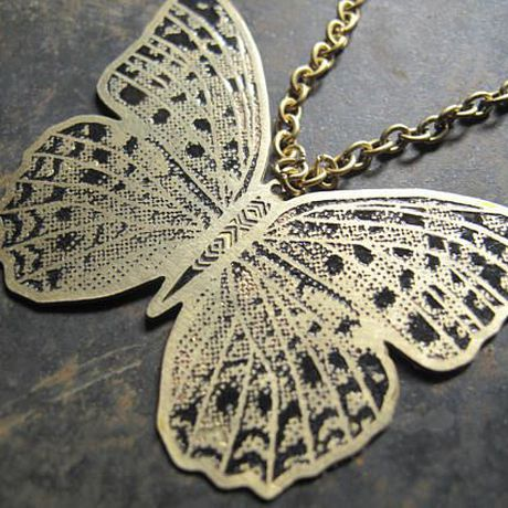 gift pendant nature necklace jewelry design butterfly